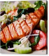 Salmon Salad Acrylic Print