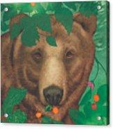 Salmonberry Bear Acrylic Print