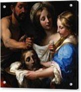 Salome With The Head Of Saint John The Baptist Acrylic Print by Onorio Marinari