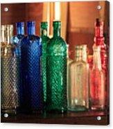 Saloon Bottles Acrylic Print