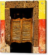 Saloon Door 1 Acrylic Print by Mexicolors Art Photography