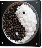 Salt And Pepper Yin And Yang Acrylic Print by Lindie Racz