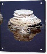 salt cristal at the Dead Sea Israel  Acrylic Print