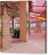 Salt Hotel, Salar De Uyuni, Bolivia Acrylic Print