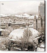 Salt Lake City Landmarks Acrylic Print