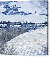 Salt Lake City Tabernacle In Snow Acrylic Print
