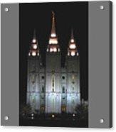 Salt Lake City Temple At Night Acrylic Print