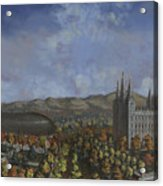 Salt Lake City Temple Square Nineteen Twelve  Acrylic Print