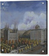Salt Lake City Temple Square Nineteen Twelve Right Panel Acrylic Print