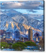 Salt Lake City Utah Usa Acrylic Print