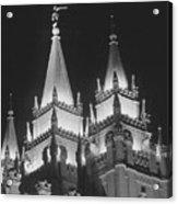 Salt Lake Temple Night Acrylic Print
