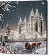 Salt Lake Temple - Old Time Christmas Acrylic Print