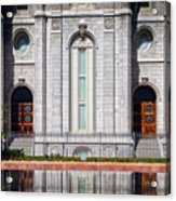 Salt Lake Temple Reflections Acrylic Print