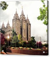 Salt Lake Temple - Summer Acrylic Print