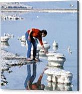 Salt Pillars In Dead Sea Acrylic Print