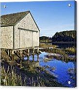 Salt Pond Boathouse  Acrylic Print