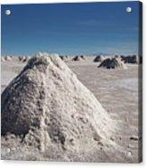 Salt Production Acrylic Print