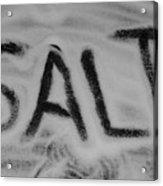 Salt Acrylic Print