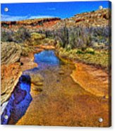 Salt Wash Near Wolf Ranch Arches Np Moab Utah Acrylic Print