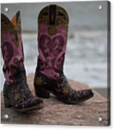 Salt Water Boots Acrylic Print