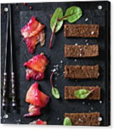 Salted Salmon With Beetroot  Acrylic Print