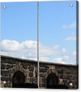 Saltire And Canons Acrylic Print