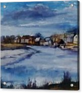 Saltwater Village Riverside Acrylic Print