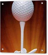 Salute To Golf Acrylic Print