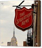 Salvation Army New York Acrylic Print