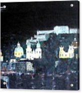 Salzburg In Moonlight Acrylic Print