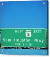 Sam Houston Pkway Acrylic Print