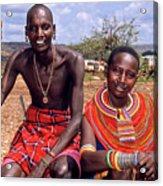 Samburu Couple Acrylic Print