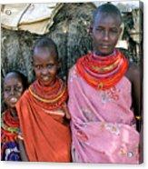 Samburu Sisters Acrylic Print