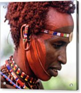 Samburu Warrior Acrylic Print