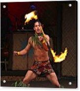 Samoan Fire Dance Acrylic Print