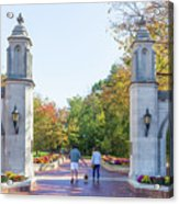 Sample Gates At University Of Indiana Acrylic Print
