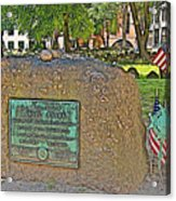 Samuel Adams Gravestone At Granary Burying Ground In  Boston-massachusetts Acrylic Print