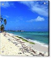 San Andres Island Beach View Acrylic Print