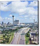 San Antonio City View -color Canvas Print Acrylic Print