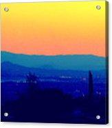 San Bernardino California Sunset Silhouette Acrylic Print