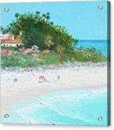 San Clemente Beach Panorama Acrylic Print