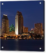 San Diego America's Finest City Acrylic Print by Larry Marshall