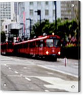San Diego Red Trolley Acrylic Print