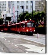 San Diego Red Trolley Acrylic Print