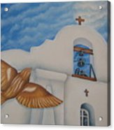 San Elizario On A Moonlit Morning Acrylic Print