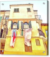 San Felice Circeo Building With The Put Clothes Acrylic Print