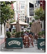 San Francisco - Maiden Lane - Outdoor Lunch At Mocca Cafe - 5d17932 Acrylic Print