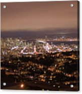 San Francisco At Night Acrylic Print