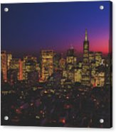 San Francisco At Sunset Acrylic Print