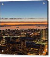 San Francisco Bay Early Morning Glow  Acrylic Print